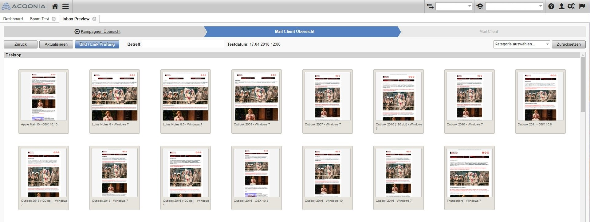 Inbox Preview Kampagne Desktop Clients